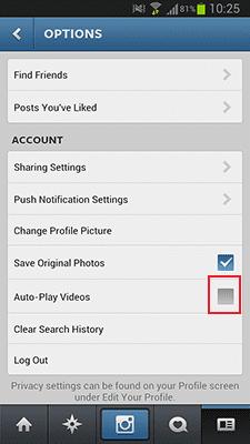 Cara Untuk Mematikan Auto Play Video Di Instagram 4