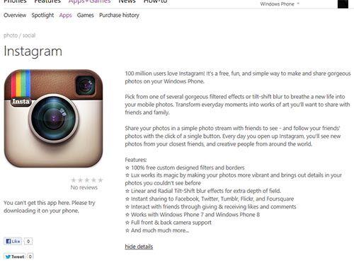 Instagram Hadir Di Windows Phone