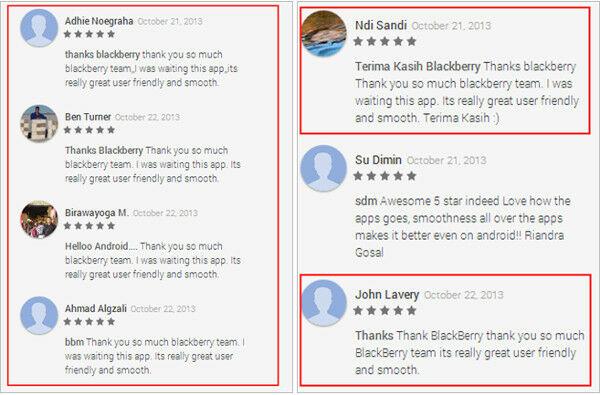 Rating 5 Bintang BBM Dalam Google Play Store Merupakan Rating Palsu