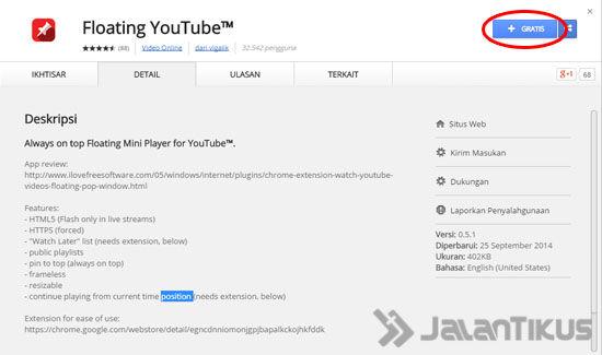 Floating Youtube 3