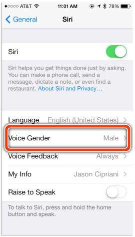 Cara Ubah Gender Siri 1