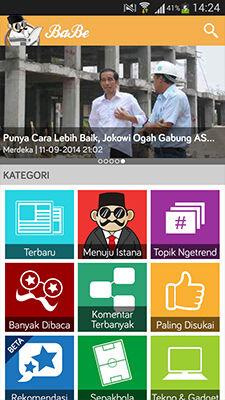 BaBe Aplikasi Berita Di Android Paling Komplit 2