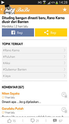 BaBe Aplikasi Berita Di Android Paling Komplit 3