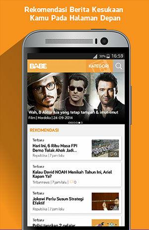 Tampilan Baru Dari BaBe Aplikasi Berita Nomor 1 Di Play Store 2