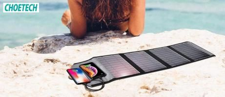 Review Solar Charger Choetech 22W: Bisa Ngecharge Tanpa Butuh Colokan!