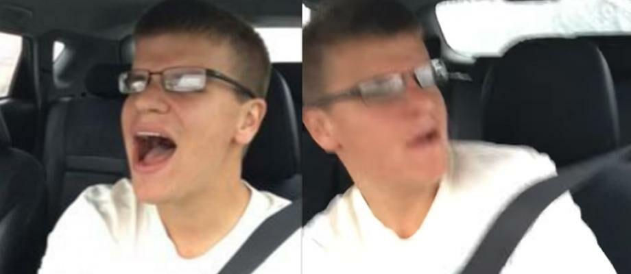 Nyanyi Sambil Nyetir, Pria Ini Terekam Kamera Alami Kecelakaan