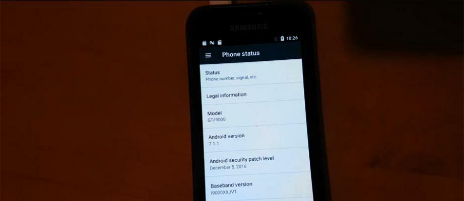 Umur 7 Tahun, Samsung Galaxy S1 Masih Bisa Pakai Android Nougat!