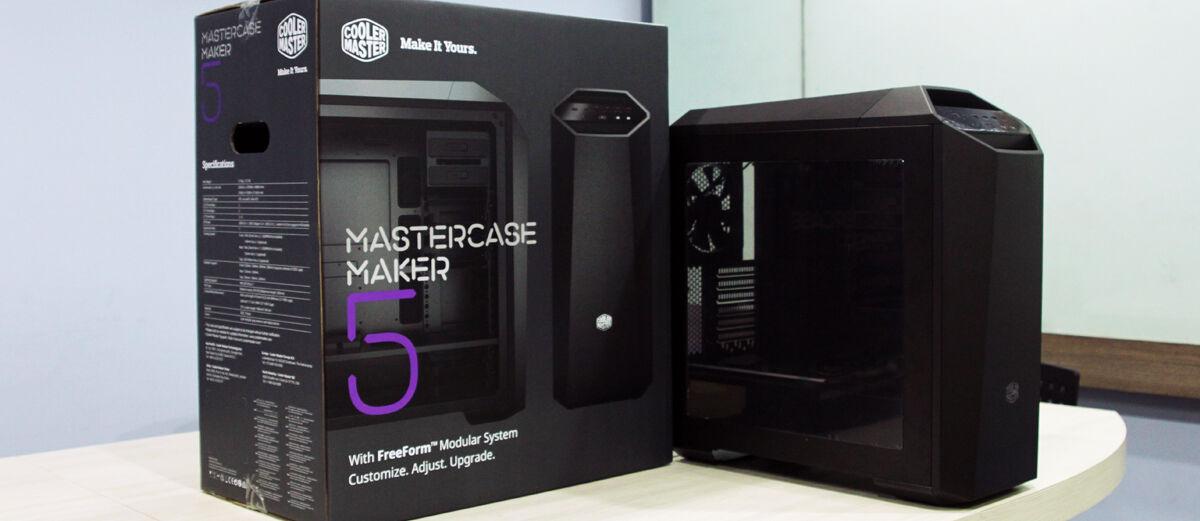 Review: Cooler Master MasterCase Maker 5, Casing PC Gaming Murah Gagah Perkasa!
