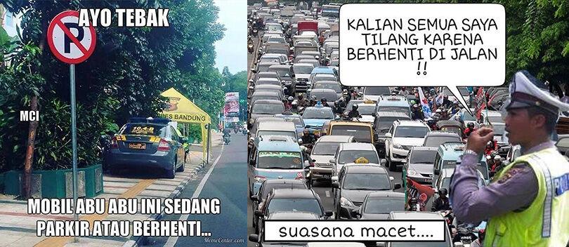 Kumpulan Meme dan Foto Lucu Polisi Tilang Supir Taksi