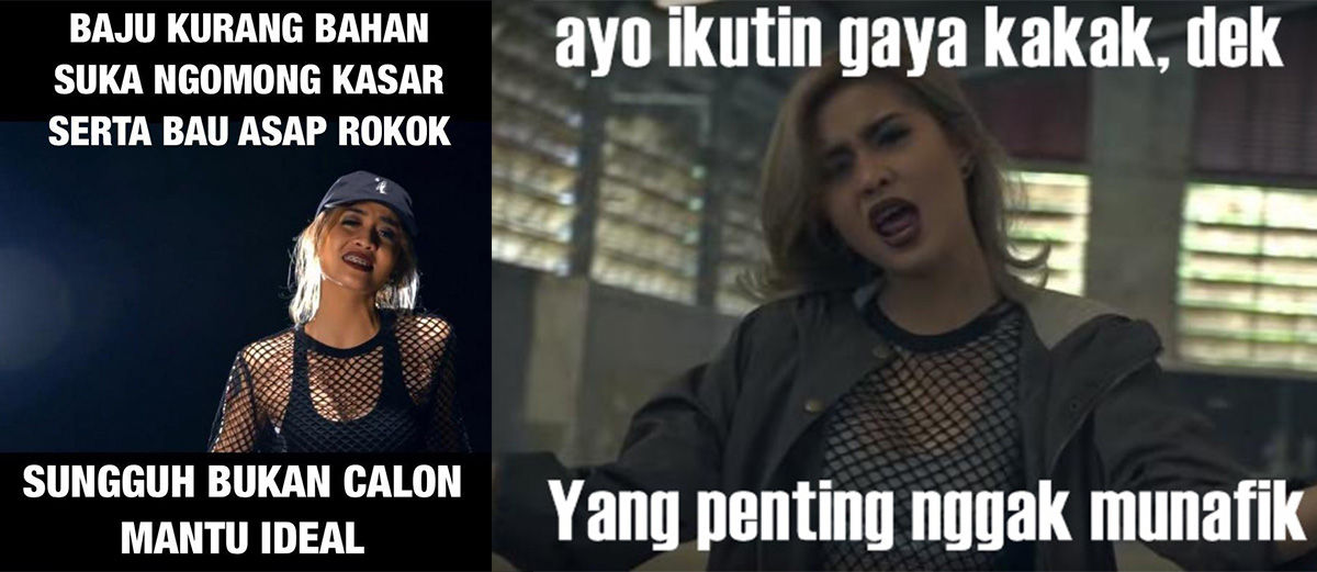 20 Meme Lucu Sindir Lagu Bad, Young Lex ft AwKarin