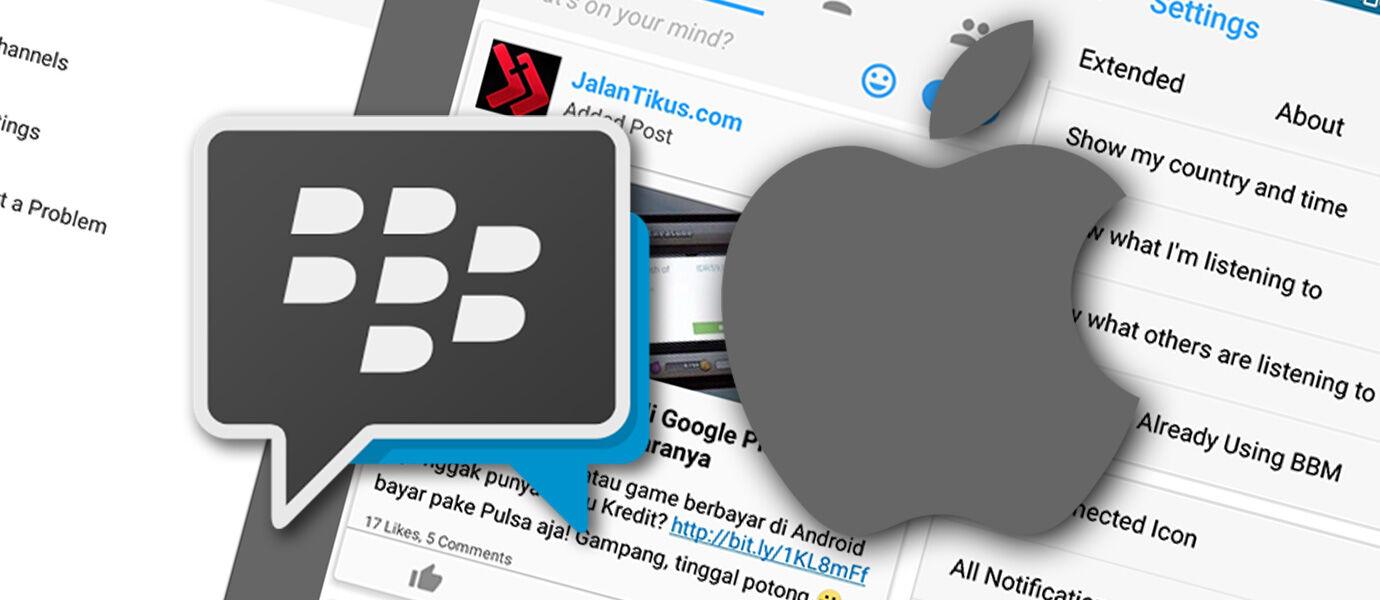 BBM Mod iOS: Ubah Tampilan BBM Android Seperti BBM iPhone Versi Terbaru