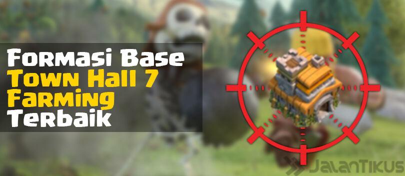 Kumpulan Formasi Base Town Hall 7 Farming Clash of Clans Terbaik