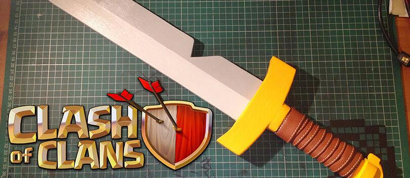 Cara Membuat Pedang BARBARIAN Clash of Clans Dalam Ukuran Besar