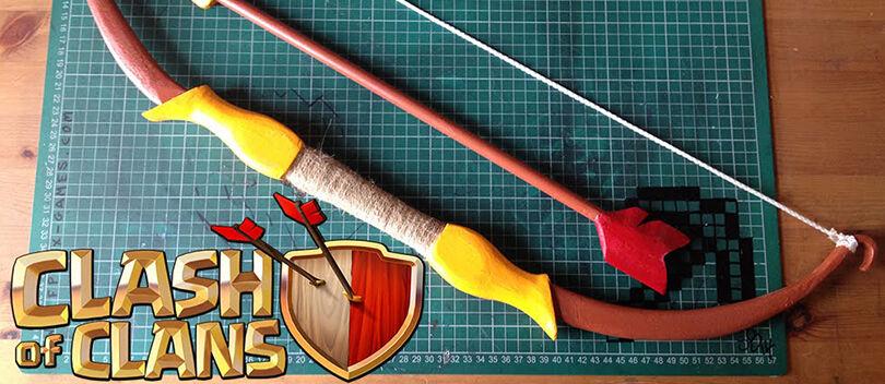 Cara Membuat Busur dan Panah ARCHER Clash of Clans Dalam Ukuran Besar