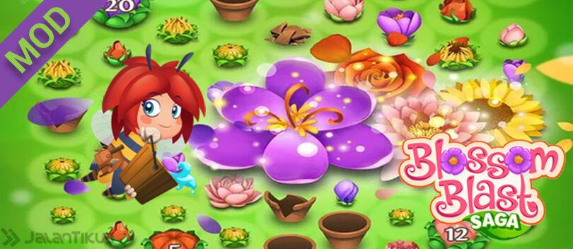 MOD Blossom Blast Saga Android, Unlimited Lives & Moves