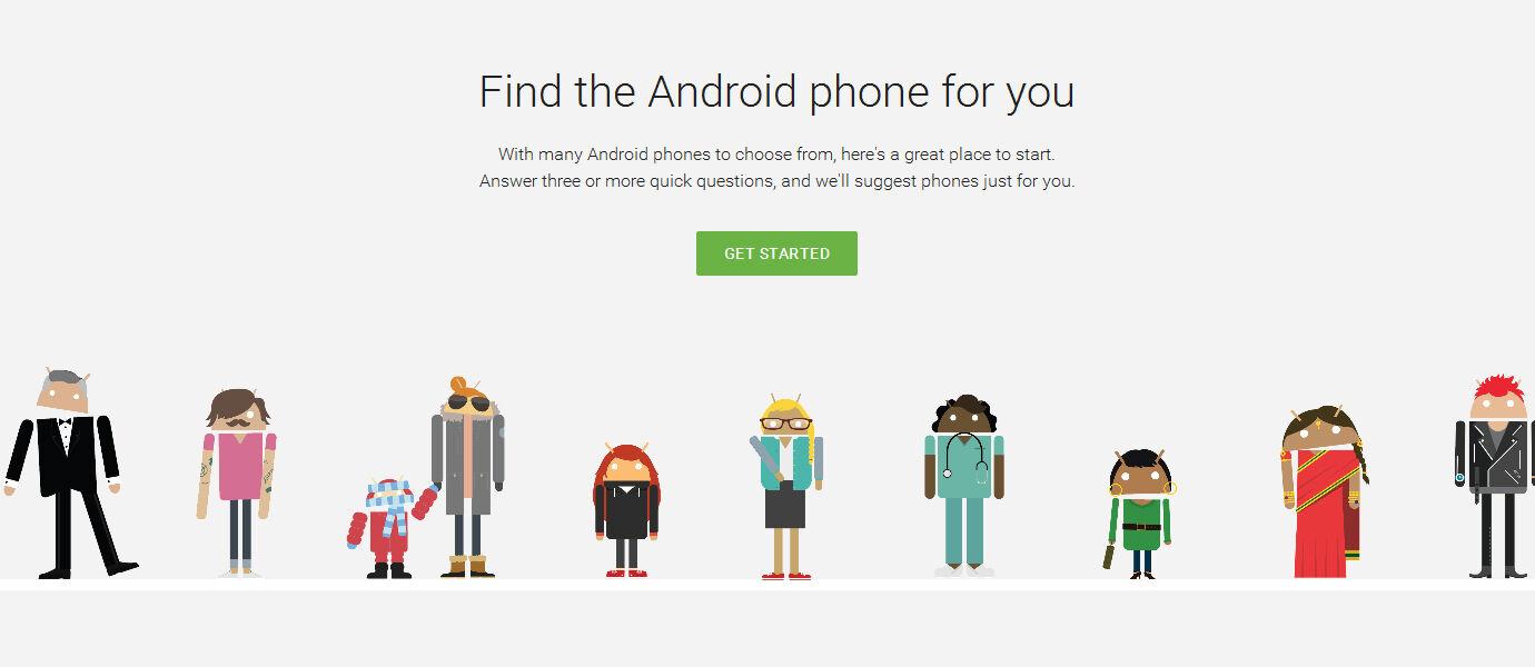 Google Merilis Situs untuk Memilih Smartphone Android yang Tepat
