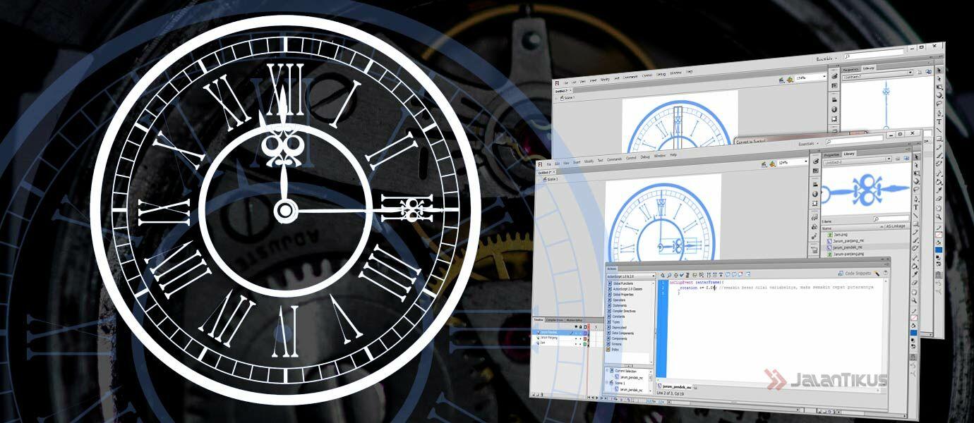 Cara Mudah Membuat Animasi Putaran Jarum Jam