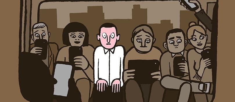 20 Ilustrasi Menyedihkan Tentang Kecanduan Manusia Terhadap Teknologi