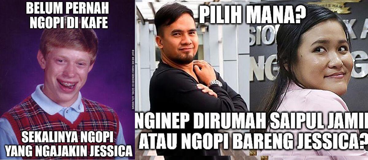 Kumpulan Meme Lucu Jessica Wongso dan Kopi Sianida Terbaru