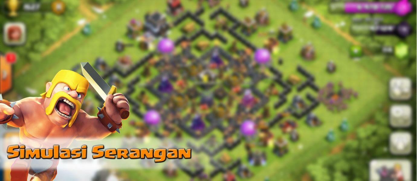 Cara Simulasi Serangan di Clash of Clans (CoC) Versi Terbaru