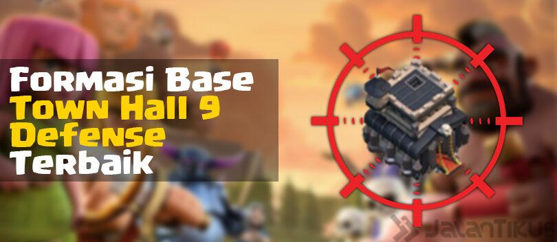 Kumpulan Formasi Base Town Hall 9 Defense Trophy Clash of Clans Terbaik