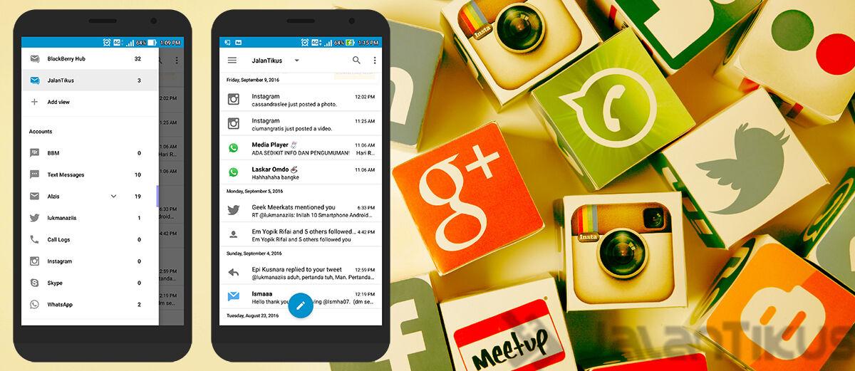 Cara Buka Banyak Aplikasi Chatting dan Sosial Media di Satu Aplikasi