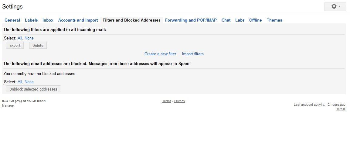 Periksa Filter yang Aktif di Akun Gmail