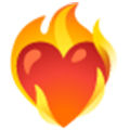 Emoji Heart On Fire 2b53a