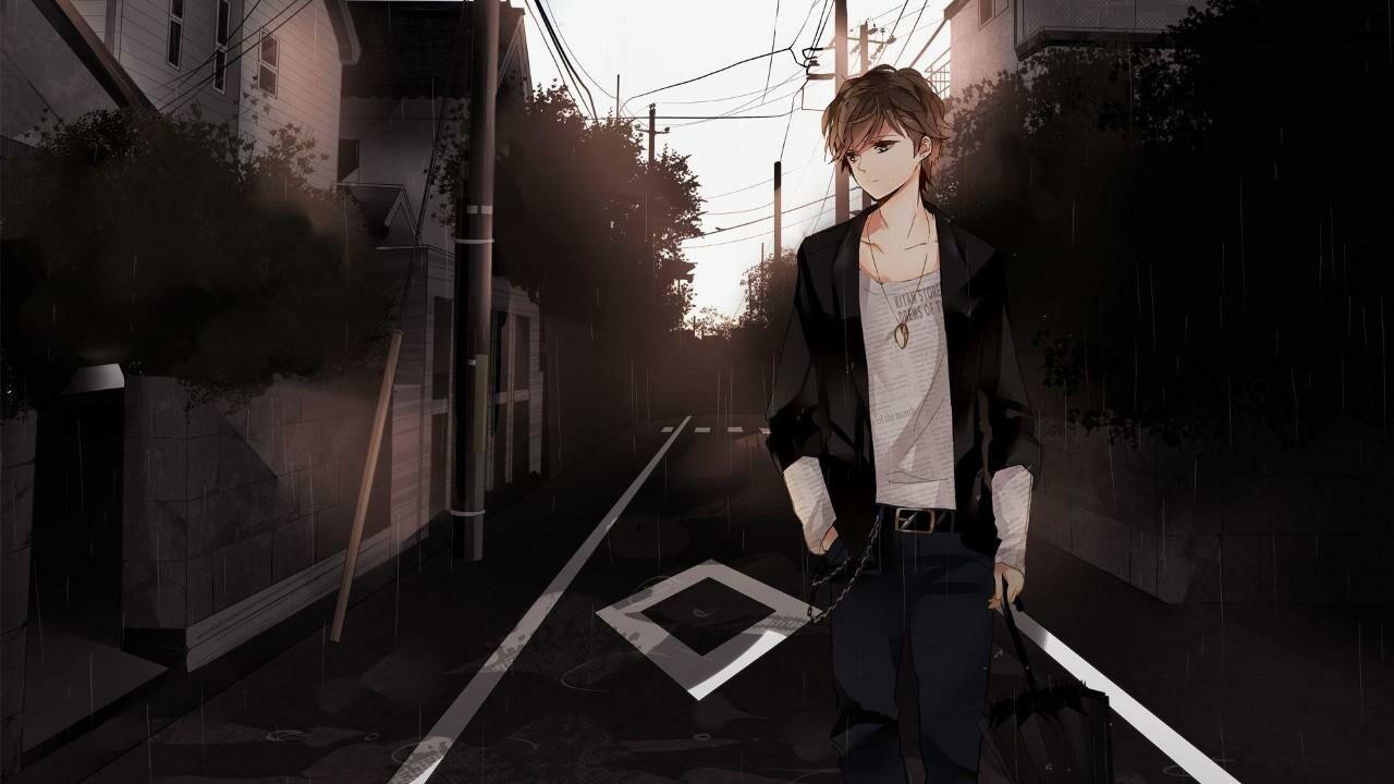 Gambar Anime Cowok Sedih Hitam Putih Anime Wallpapers