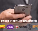 Daftar Lengkap Harga Paket Internet Unlimited Mei 2018