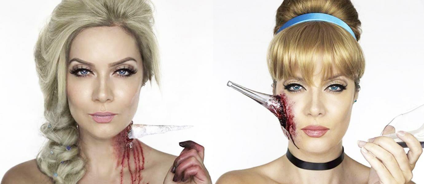 Mengerikan, Cewek Cantik Ini Jadi Disney Pricess Versi Zombie