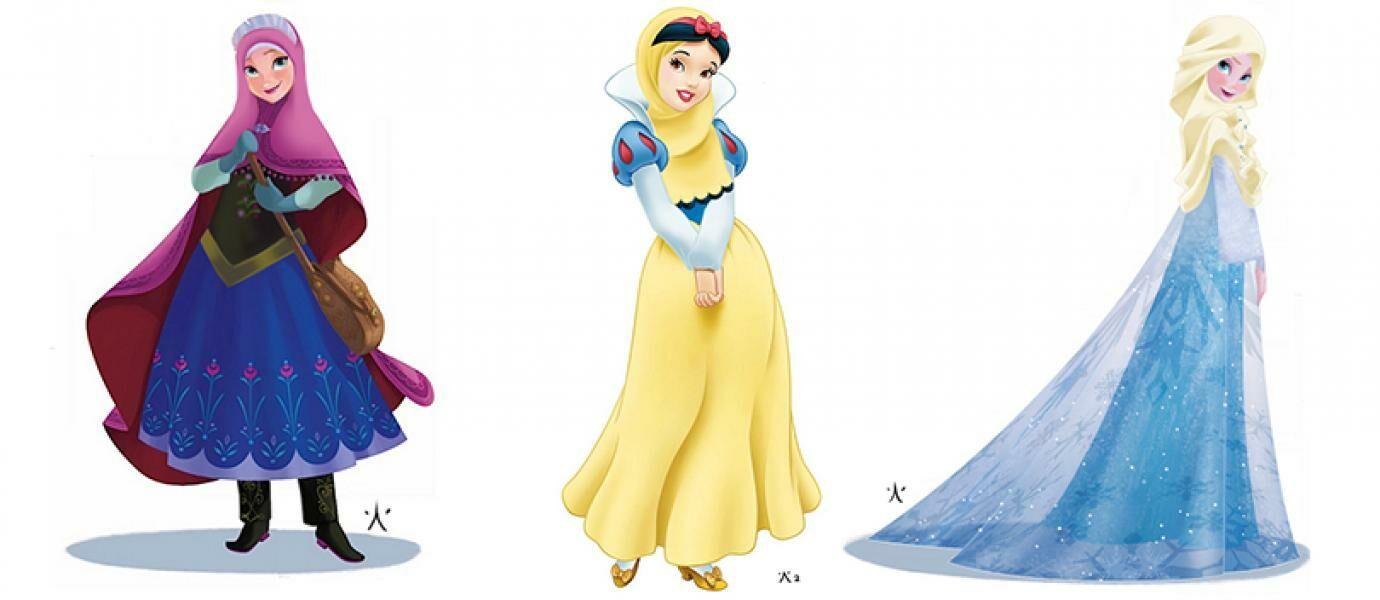 SUBHANALLAH Saat Berhijab 10 Karakter Disney Ini Jadi