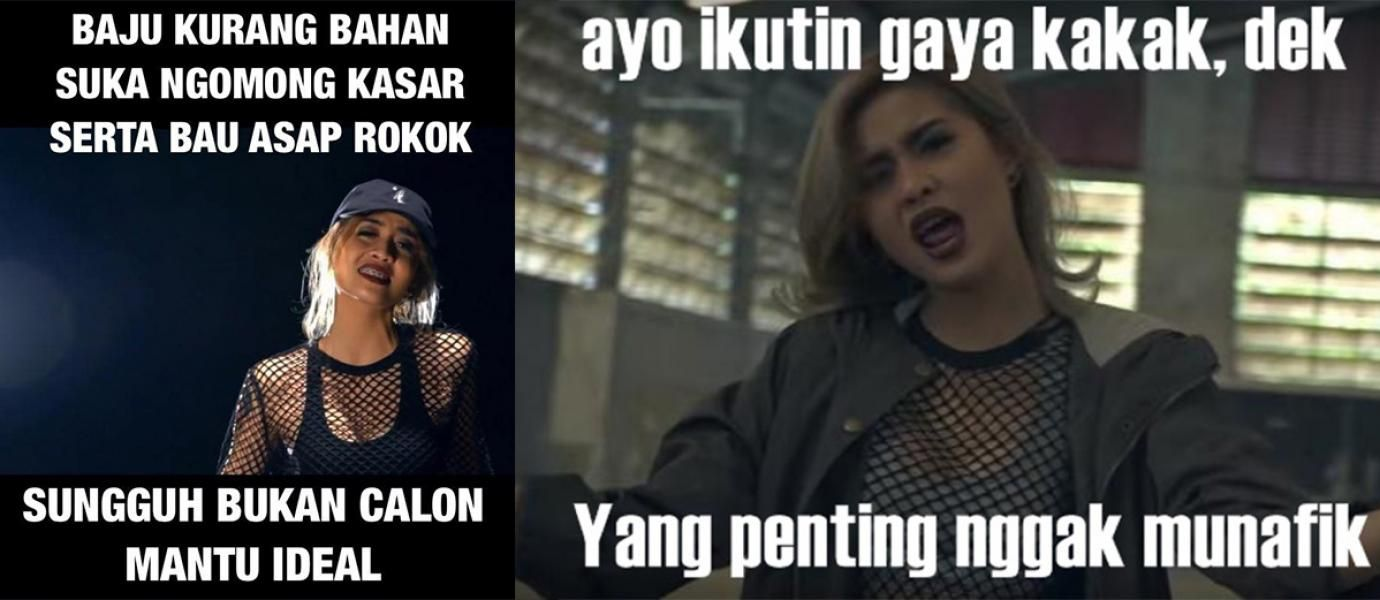 Meme Lucu Sindir Lagu Bad Young Lex Ft AwKarin
