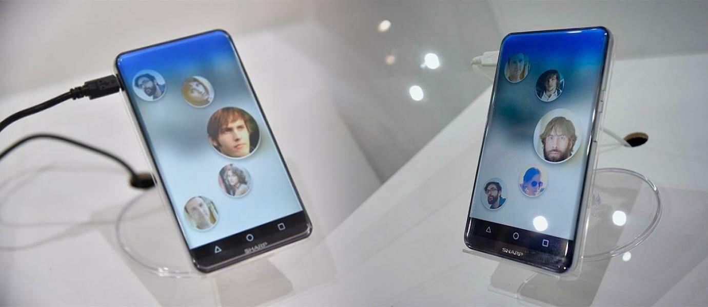 Canggih! Sharp Luncurkan Smartphone Dengan Layar Tanpa Tepian