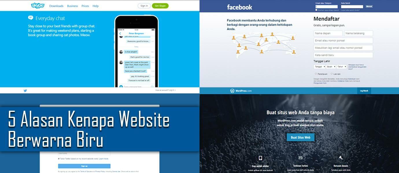 5 Alasan Kenapa Banyak Website Berwarna Biru