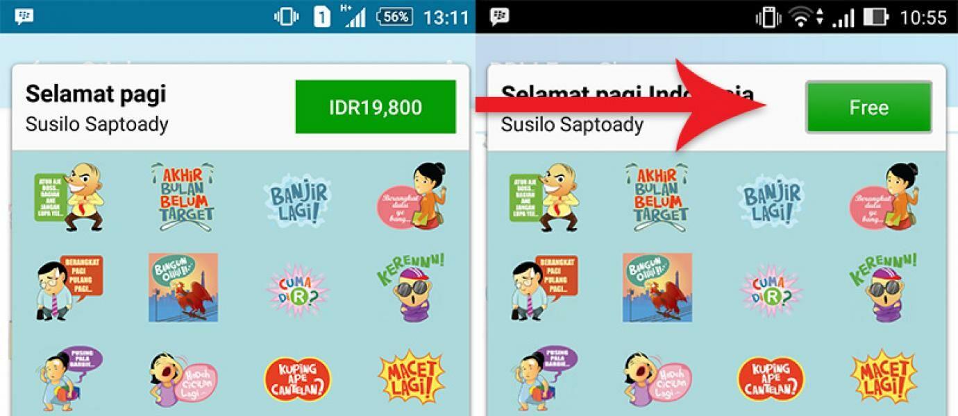 Cara Mendapatkan Sticker BBM Berbayar Gratis di Android