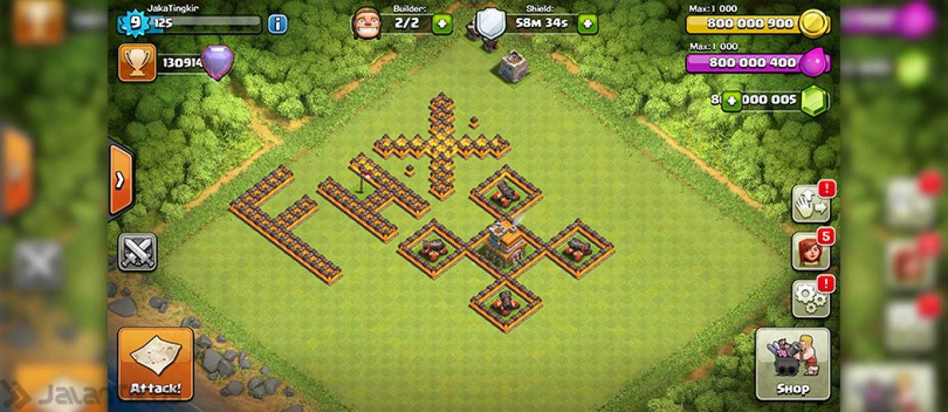 FHx Private Server CLASH OF CLANS Indonesia dengan Gems 800 Juta GRATIS!!