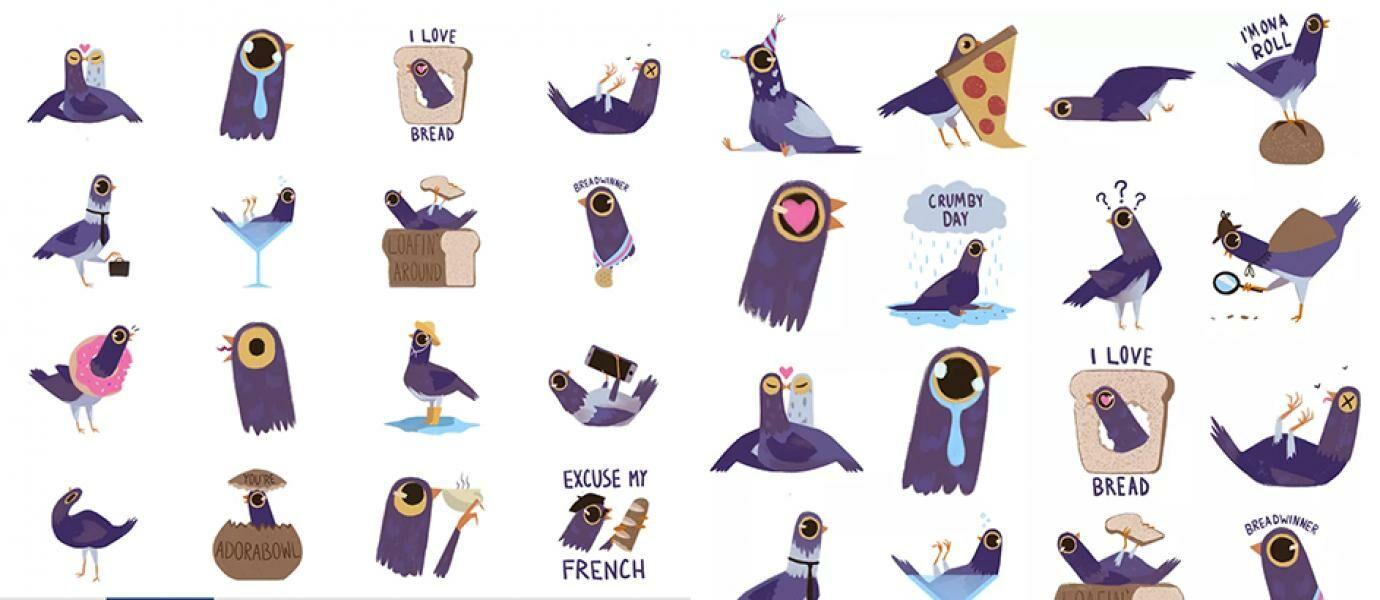 Inilah Stiker Burung Ungu Yang Lagi Heboh Di Facebook JalanTikuscom