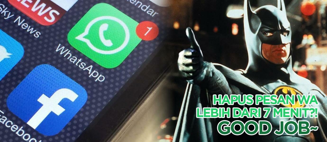Cara Menghapus Pesan WhatsApp yang Sudah Terkirim Tanpa Batas 7 Menit