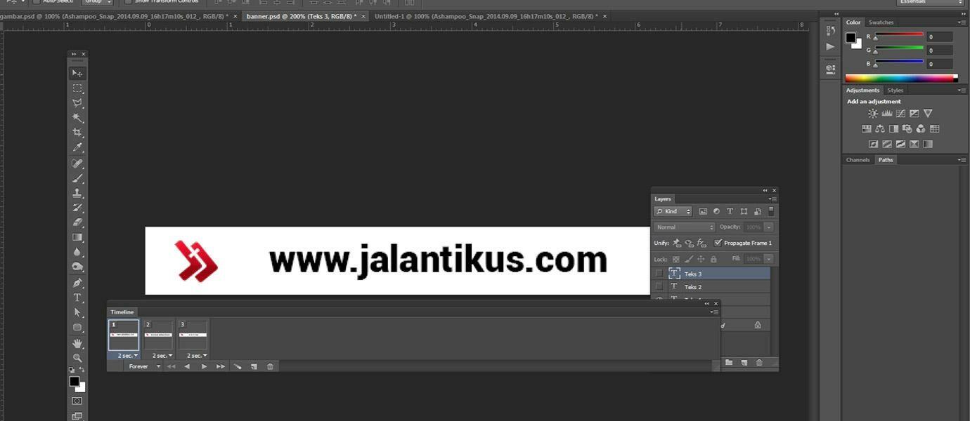 Cara Mudah Membuat Animasi GIF di Photoshop - JalanTikus.com
