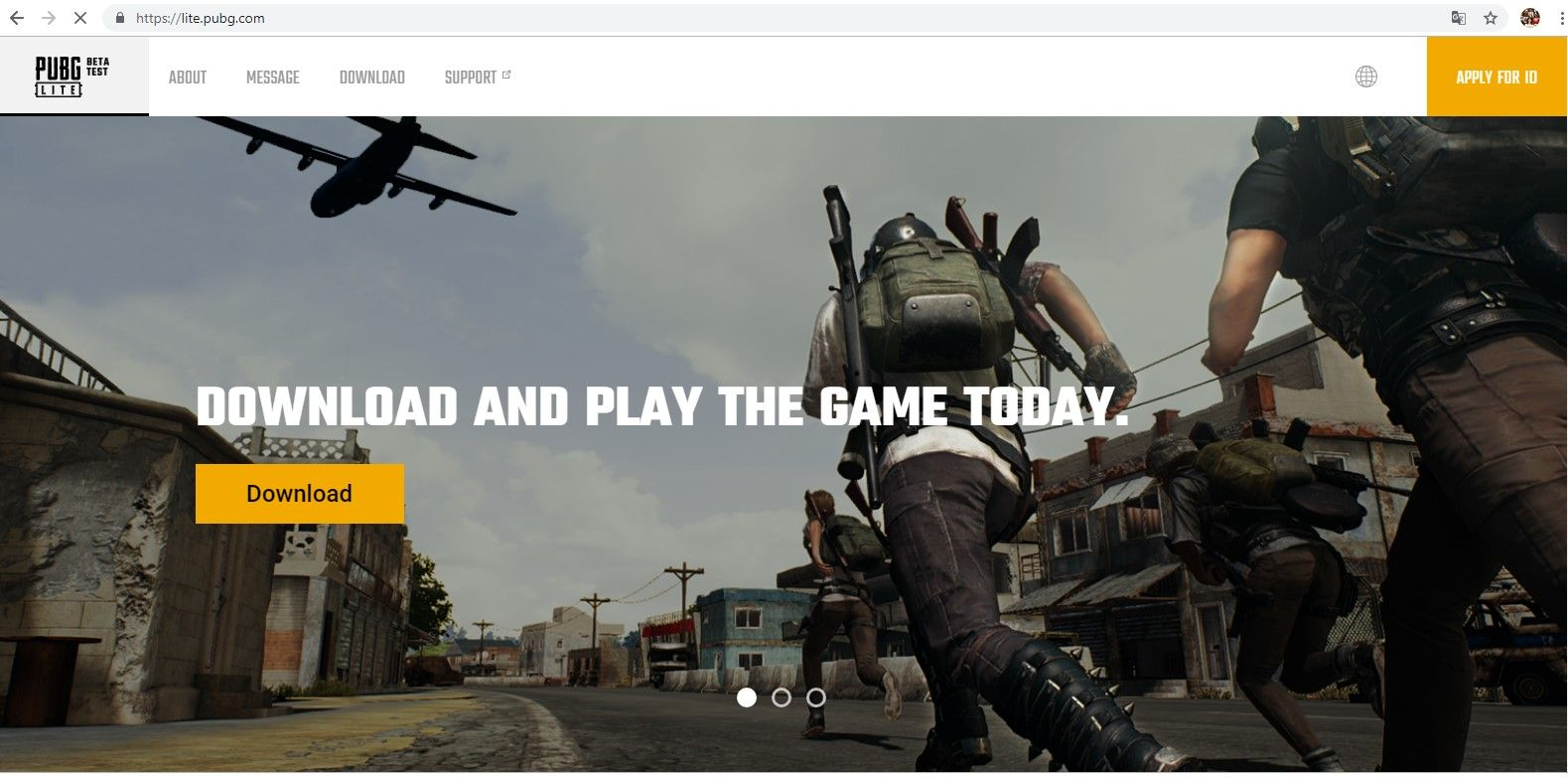 download PUBG Lite on PC