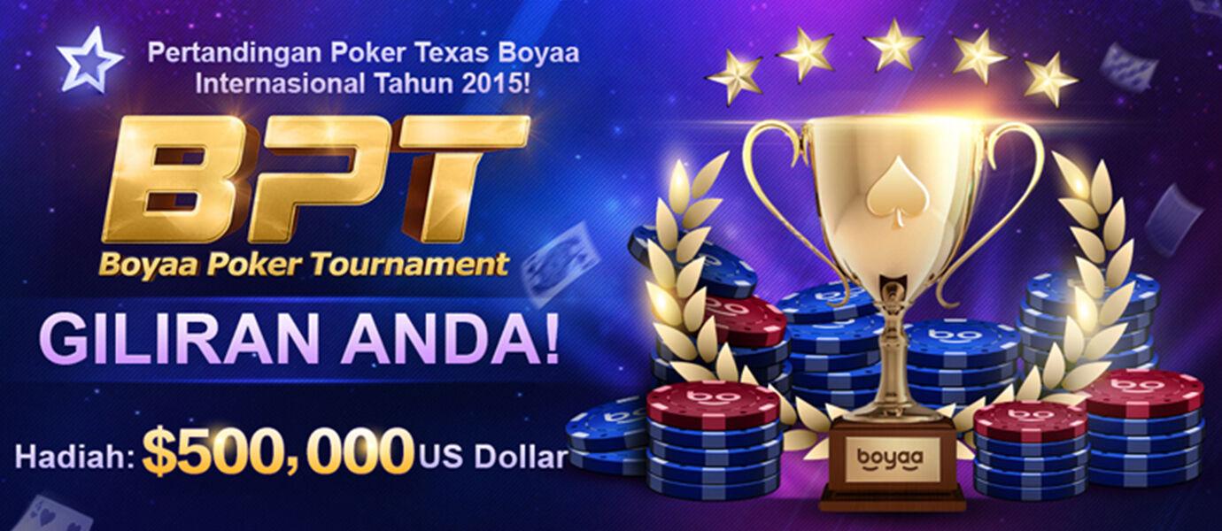 Dapatkan Bonus Hadiah 50 Juta Rupiah di Boyaa Poker Tournament 2015!