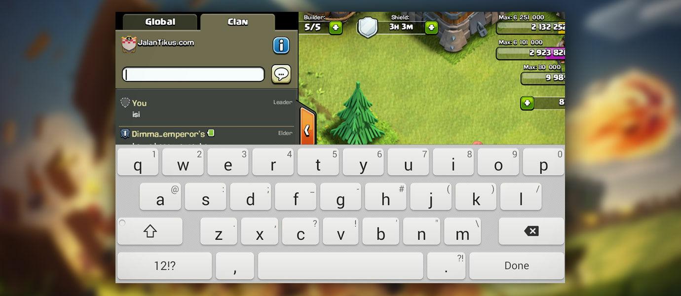 Solusi Agar Keyboard di Clash of Clans Tidak Hilang dan Macet