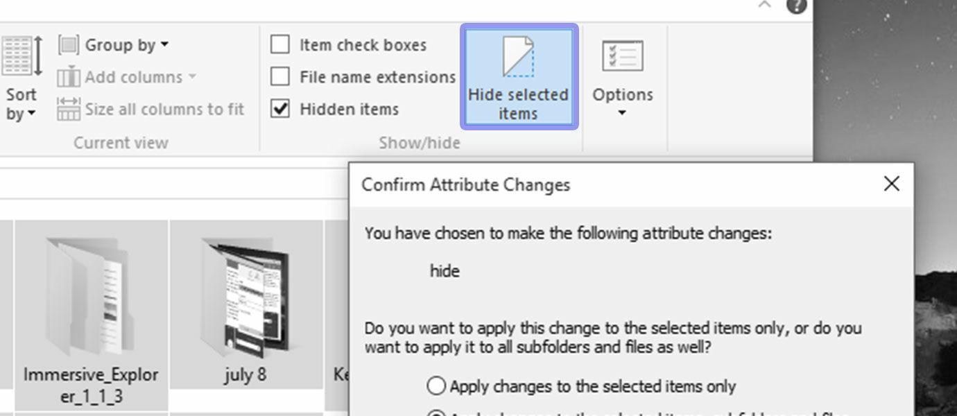 Cara Menyembunyikan File dan Folder di Windows 10