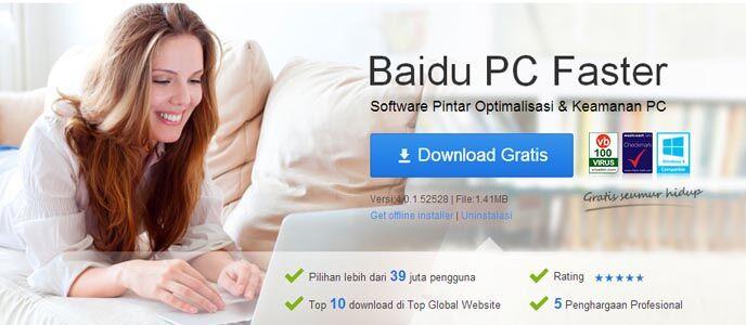 Baidu PC Faster, Tingkatkan Performa PC dengan Cepat