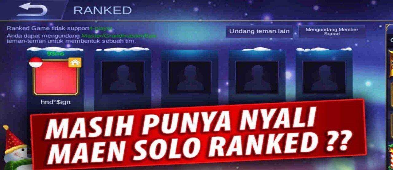 Solo Rank Mobile Legends D4138