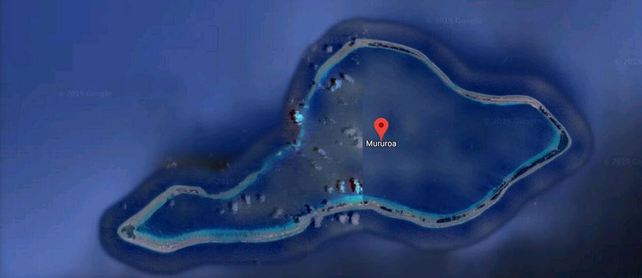 Pulau Mururoa Diblur Google Maps 9399a