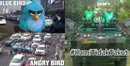 Meme Demo Taksi Blue Bird Banner