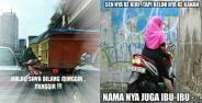 Meme Ibu Ibu Naik Motor Banner