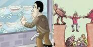 Ilustrasi Mencerminkan Kehidupan Manusia Saat Ini